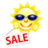 Sun sale symbol isolated Royalty Free Stock Images