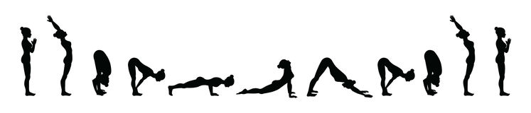 Sun Salutation Surya Namaskara A Yoga Sequence Royalty Free Stock Image