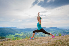 Sun salutation Royalty Free Stock Image