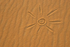 Sun and sand Stock Image