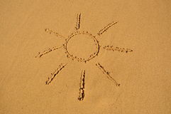 Sun in the sand Royalty Free Stock Image