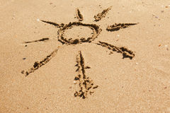 Sun on the sand Royalty Free Stock Photo