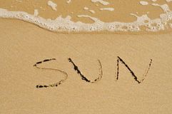 Sun on the sand Royalty Free Stock Image