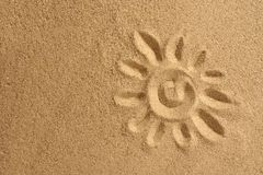 Sun on sand Royalty Free Stock Images