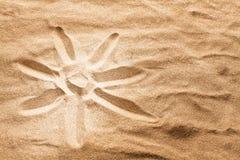 Sun on sand Royalty Free Stock Photography