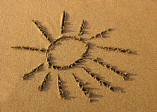 Sun on sand Stock Photography