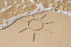 Sun on sand Royalty Free Stock Photos