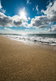Sun, sand och hav Royaltyfria Bilder