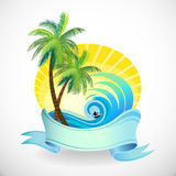 Sun, Sand and Surfing Holidays On a Tropical Islan Stock Photo