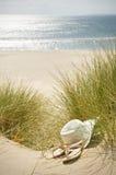 Sun sandały i kapelusz zdjęcie royalty free