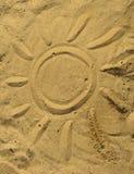 Sun on sandy surface Royalty Free Stock Image