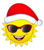 Sun with santa hat Royalty Free Stock Photo