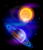 Sun and Saturn Royalty Free Stock Photos