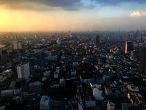 Sun-Satz der Stadt Lizenzfreies Stockfoto