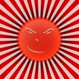 Sun. Scary sun illustration icon Stock Illustration