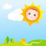 Sun-Schätzchenkarte Lizenzfreie Stockfotos