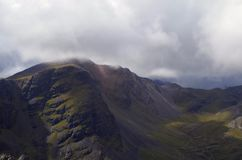 Clouds above a Scottish mountain Royalty Free Stock Photo