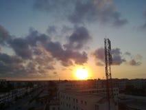 Sun se couche Photographie stock libre de droits