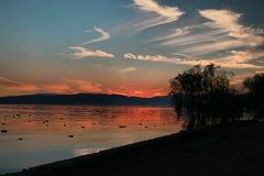 Sun se couche Photographie stock
