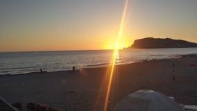 Sun se couche Image libre de droits