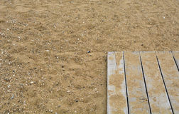 Sun se zambulle en la arena Imagen de archivo libre de regalías