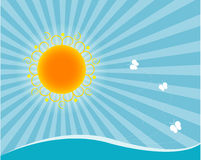 Sun and sea Royalty Free Stock Photo