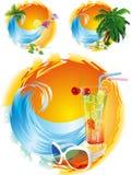 The sun and the sea. Stock Photo