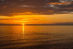 Sun, Sea, Evening Royalty Free Stock Image