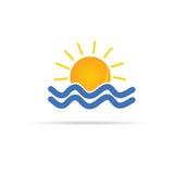 Sun and sea icon color vector Stock Image