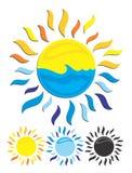 Sun and sea. Royalty Free Stock Photos
