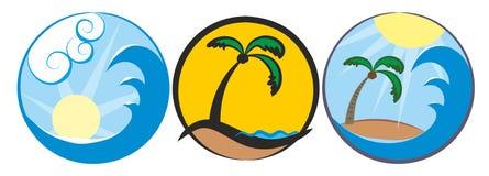 Sun and sea logo Royalty Free Stock Image