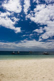 Sun, sea, sky. The shoreline in alona tropical resort, bohol, philippines stock photo