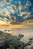 Sun, sea and storm clouds Royalty Free Stock Photos