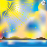 Sun and sea in summer. Illustration stock illustration