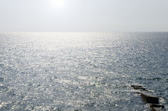 Sun on the sea surface Royalty Free Stock Image