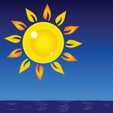 Sun and sea vector background Royalty Free Stock Photos