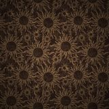 Sun seamless pattern Royalty Free Stock Image