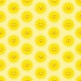 Sun seamless pattern royalty free stock photos