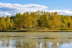 The Sun See-Herbstlandschaft Stockfoto