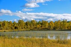 The Sun See-Herbstlandschaft Lizenzfreies Stockbild