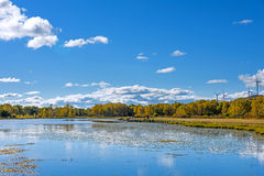 The Sun See-Herbstlandschaft Stockbilder