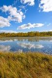 The Sun See-Herbstlandschaft Lizenzfreies Stockfoto