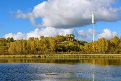 Sun See-Herbstlandschaft Stockfoto