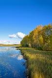 Sun See-Herbstlandschaft Lizenzfreies Stockbild
