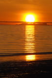Sun Set. The sun goes down on a winters day in Homer, AK Stock Photography