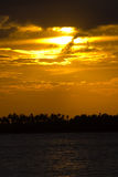 Sun set. Beautiful decline in a bay, the Indian ocean Stock Photography