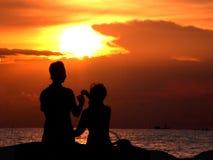 Sun-Set Stockfotos