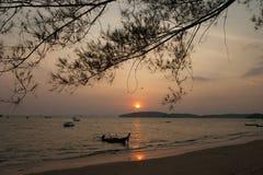 Sun set at Ao Nang Royalty Free Stock Photos