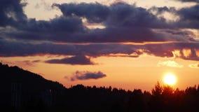 Sun set stock video footage
