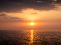 Sun set at the beach royalty free stock photography